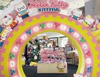 Hallo Kitty Kittyful-Speicher im zentralen Weltmall, Bangkok Lizenzfreie Stockfotos