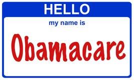 Hallo mein Name obamacare Stockbild