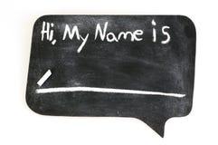Hallo, is Mijn Naam royalty-vrije stock fotografie