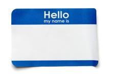 Hallo Namensmarke Lizenzfreies Stockfoto