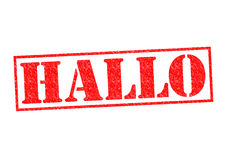 HALLO. Rubber Stamp over a white background Royalty Free Stock Photography
