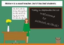 hallo säger lärare arkivbild