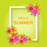 Hallo Sommer Stockfoto