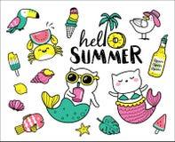 Hallo Sommer lizenzfreie abbildung