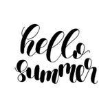 Hallo Sommer Beschriftungsillustration Stockbilder