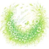 Hallo Sommer-Blumenrahmen Lizenzfreies Stockfoto