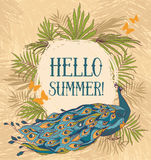 Hallo Sommer! Fahne vektor abbildung
