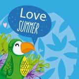 Hallo Sommerkarikaturen stock abbildung