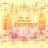 Hallo Sommerplakat lizenzfreie abbildung