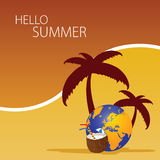 Hallo summer color art  Royalty Free Stock Images