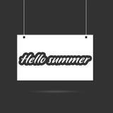 Hallo summer on signboard illustration. Hallo summer icon on signboard illustration Stock Images