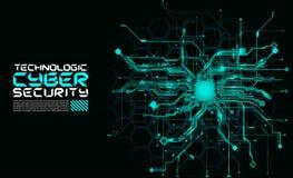 Hallo technologie-van kringen fantastisch absract cyberpunk cyber loon als achtergrond royalty-vrije illustratie