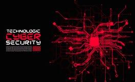 Hallo technologie-van kringen fantastisch absract cyberpunk cyber loon als achtergrond vector illustratie