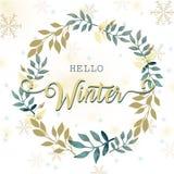 Hallo Winterillustration Stockfotografie