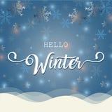 Hallo Winterillustration Stockbild