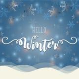 Hallo Winterillustration Lizenzfreie Stockfotos