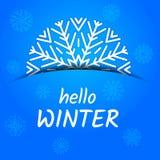 Hallo Winterkarte lizenzfreie abbildung