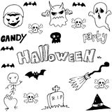 Halloeen evil ghost in doodle Royalty Free Stock Images