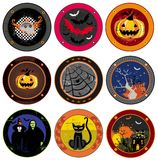 Hallooween drink coasters Stock Photos