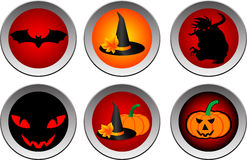 Hallooween drink coasters Royalty Free Stock Image