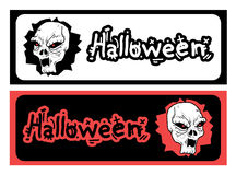 Hallooween duo card. Creative design of halloween duo card Stock Photo
