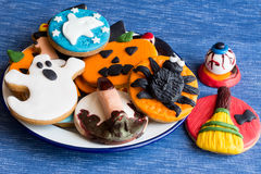 Hallooween homemade cookies Royalty Free Stock Images