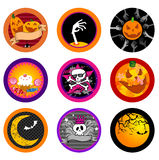 Hallooween Vector drink coasters Royalty Free Stock Image