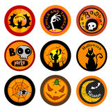 Hallooween Vector drink coasters Stock Images