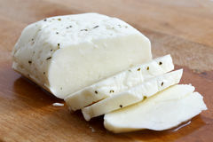 Halloumi乳酪 免版税库存照片