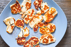 Halloumi Cheese Royalty Free Stock Images