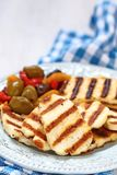 Halloumi cheese Stock Photo