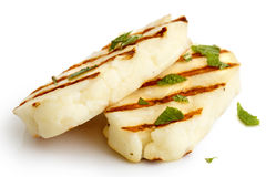 Halloumi cheese. royalty free stock photography