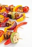 Halloumi et chiches-kebabs végétaux Photo libre de droits