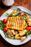 Halloumi grilled cheese Stock Images