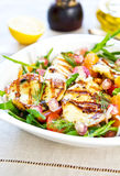 Halloumi with Orange and Rocket salad Stock Images