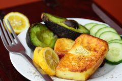 Halloumi plate Royalty Free Stock Images