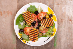 Halloumi salads Royalty Free Stock Photography