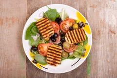 Halloumi salads Royalty Free Stock Photography