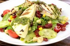 Halloumi-Salat lizenzfreies stockbild