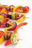 Halloumi and Vegetable Kebabs Royalty Free Stock Photo