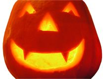 A Hallowe'en Pumpkin Stock Images