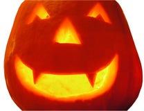 A Hallowe'en Pumpkin. Halloween pumpkin lit internally by candle Stock Images