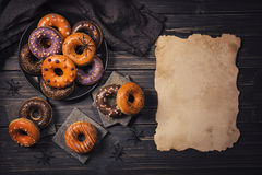 Halloweeen donuts Royalty Free Stock Images
