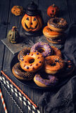 Halloweeen donuts Royalty Free Stock Image