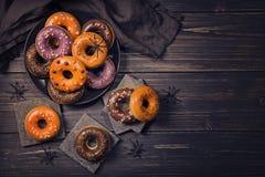 Halloweeen donuts Stock Photo