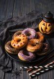 Halloweeen donuts Royalty Free Stock Photo