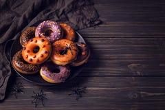 Halloweeen donuts Stock Image