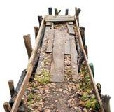 Halloween冷的湖桥梁概念 库存图片