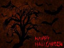 Halloween Árvore assustador e bastões Imagem de Stock