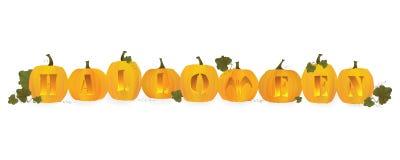 halloween överskriftvektor Arkivfoto